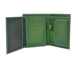 Luxusná kožená peňaženka č.8560 v zelenej farbe (4)