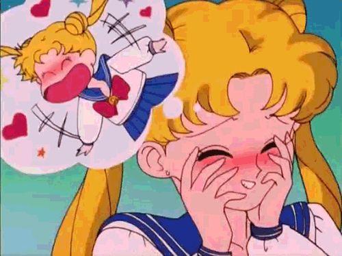 sailor moon funny gif - Usagi in love