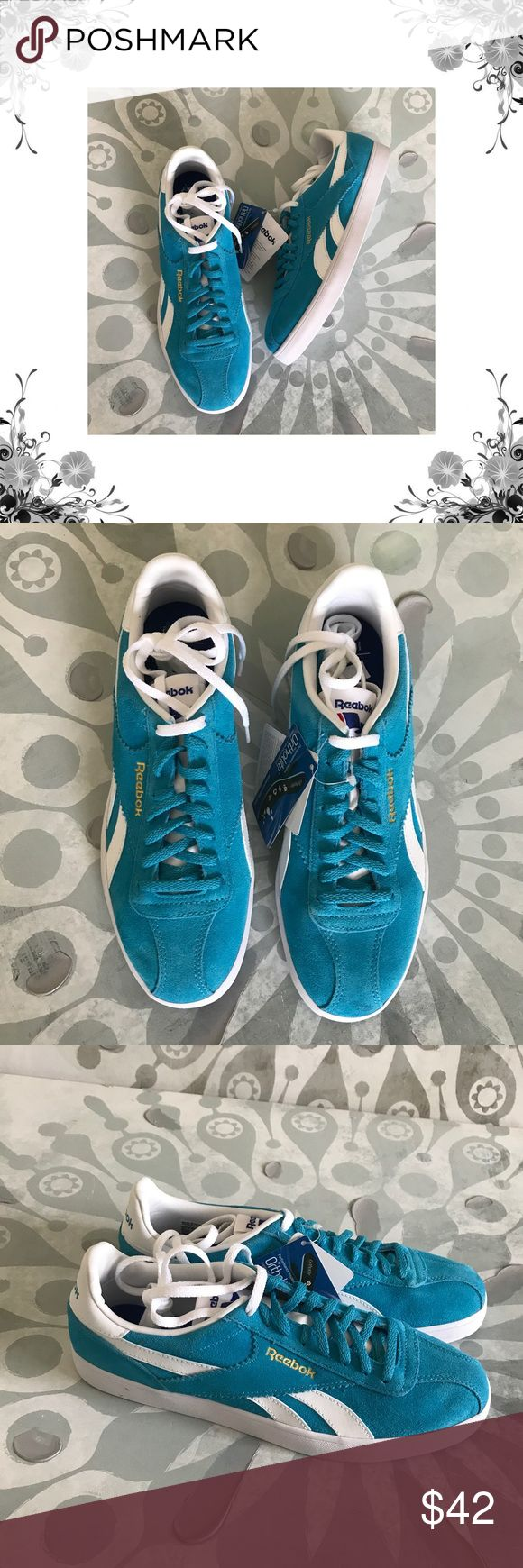"Reebok Royal Alperez Flight Blue Lace-Up Sneakers Blue/White/Gold. New with box. Heel Height is approx 1"". Platform Height is approx 3/4"". Front Lace closure. Leather/Man Made Upper. Suede fabric. Bundle for discounts! Thank you for shopping my closet! Reebok Shoes Sneakers"