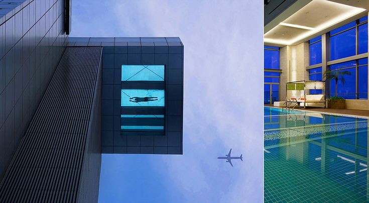 Glass bottom swimming pool, Shanghai China Pinterest