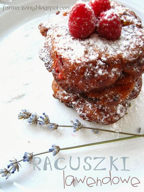 pancakes raspberries and lavender