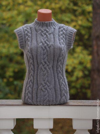 "Sweatshirts and sweaters handmade.  Fair Masters - handmade vest light gray ""Warm"".  Handmade."
