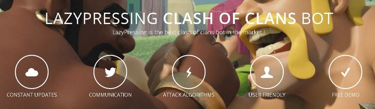LazyPressing is a Clash of Clans bot that will allow you to quickly max your base while you are away. Mimics 100% human like behavior when deploying troops.