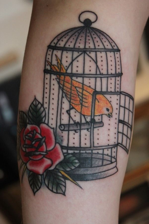 Once again, another birdcage tattoo that inspires me!