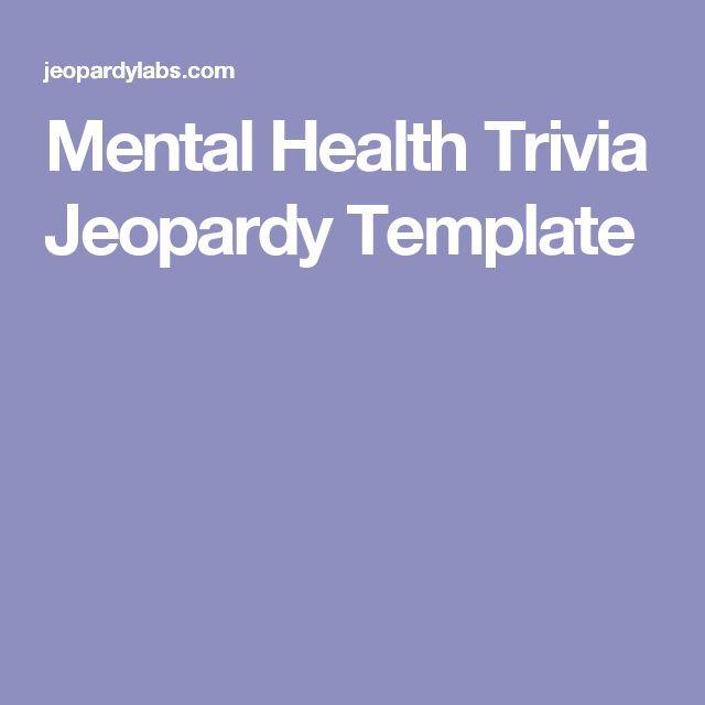 Mental Health Trivia Jeopardy Template