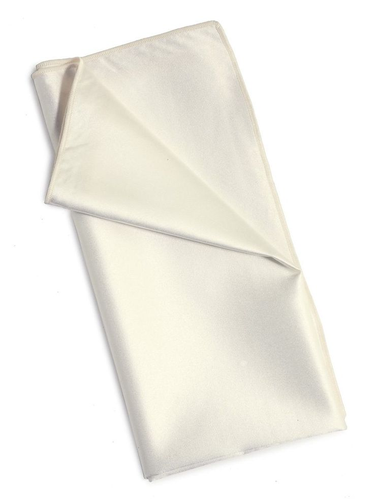 "Ivory satin napkin; approximately 20"" x 20"". ($1.75 each)"