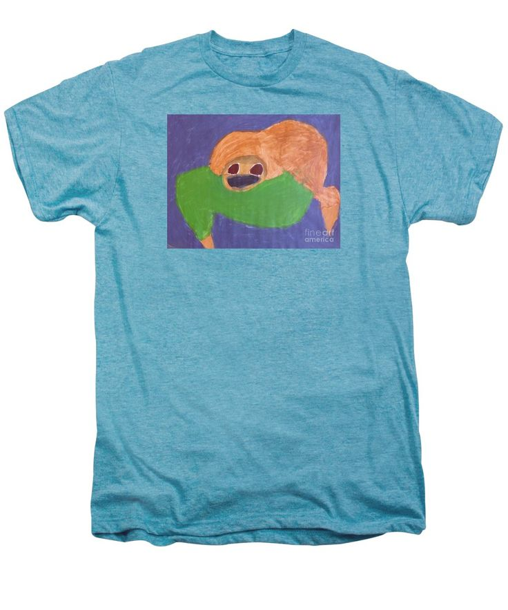 Patrick Francis Premium T-Shirt featuring the painting Otter 2014 by Patrick Francis