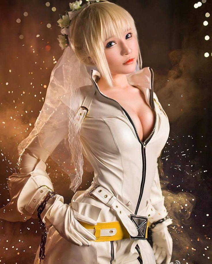 "cosplay_hd_: ""Saber Bride - of : Fate /Extra CCC Coser : @千夜未来 (China) #fatestaynight #FateExtra #Saber #SaberAlter #Saber_Bride #saberbride #Anime #cosplay #otaku #Kawaii #cosplayer #manga"""