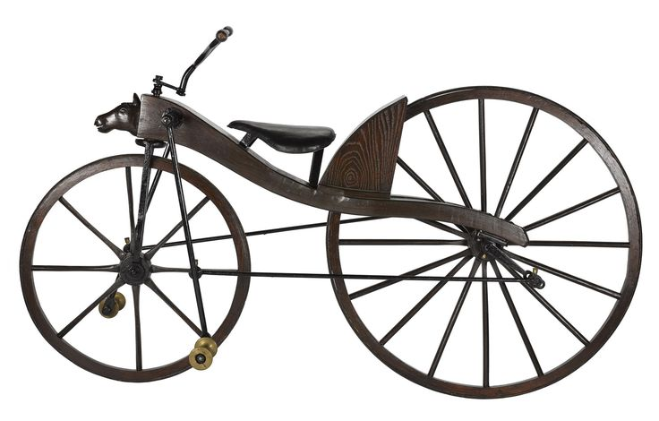 This velocipede is possibly by Thomas McCall of Kilmarnock, c. 1871