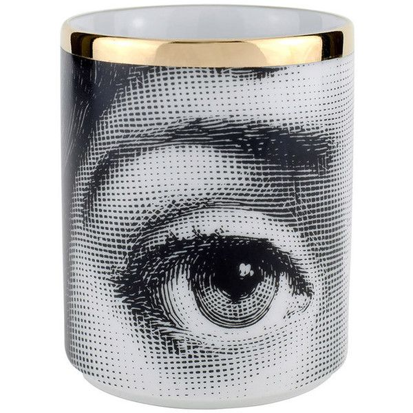 Fornasetti Occhi Pencil Holder ($144) ❤ liked on Polyvore featuring home, home decor, office accessories and fornasetti