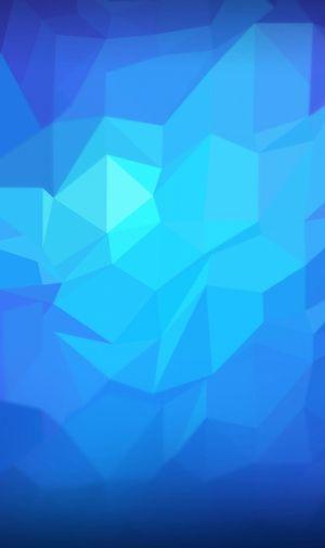 濃淡のある青いポリゴンのiPhone壁紙 | 壁紙キングダム スマホ版