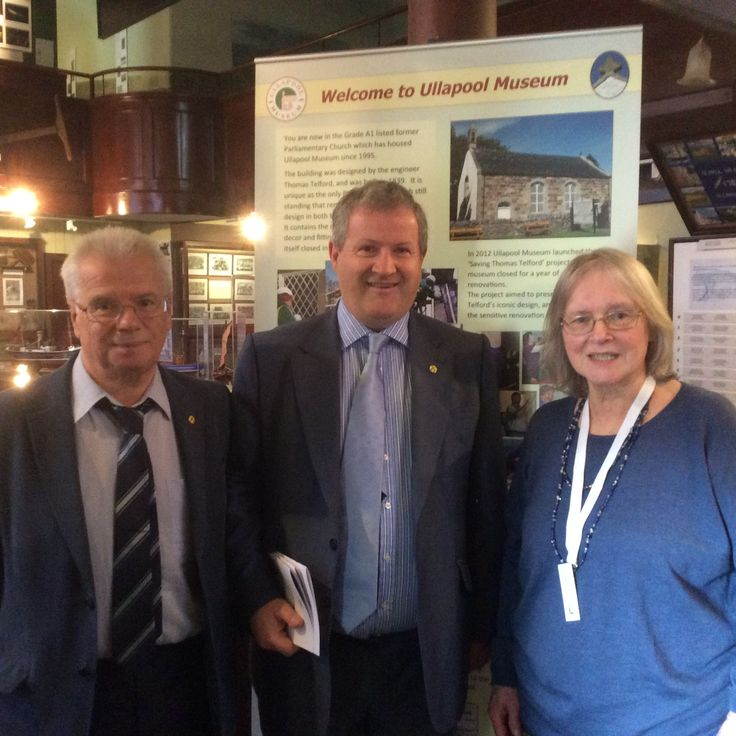 Visit to Ullapool Museum 12 August by local MP Ian Blackford with councillor and board member Ian Cockburn