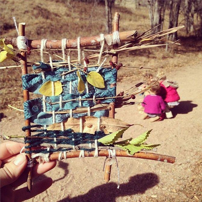 Forest school weaving