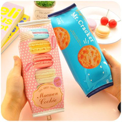 Aliexpress.com : Buy Creative Cookie Biscuits Cute Zipper Pencil Case School PU Leather Pencil Cases For Girls from Reliable case n9770 suppliers on Cashin Fashions