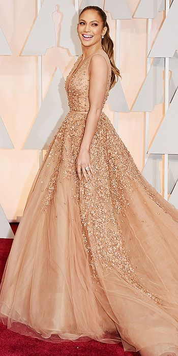 Jennifer Lopez... This dress.  Shutting down the red carpet in Elie Saab.
