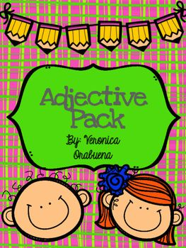 This pack is great for practicing adjectives in a variety of ways. Included in the pack: -Identify the Adjective and Noun (2) -Describe Yourself Using Adjectives-Describe Your Teacher Using Adjectives- Describe Your Best Friend Using Adjectives - Create Sentences Using Adjectives (3)- Cut and Match Sentences Using Adjectives (2) -Adjective Scoot with Recording Sheet