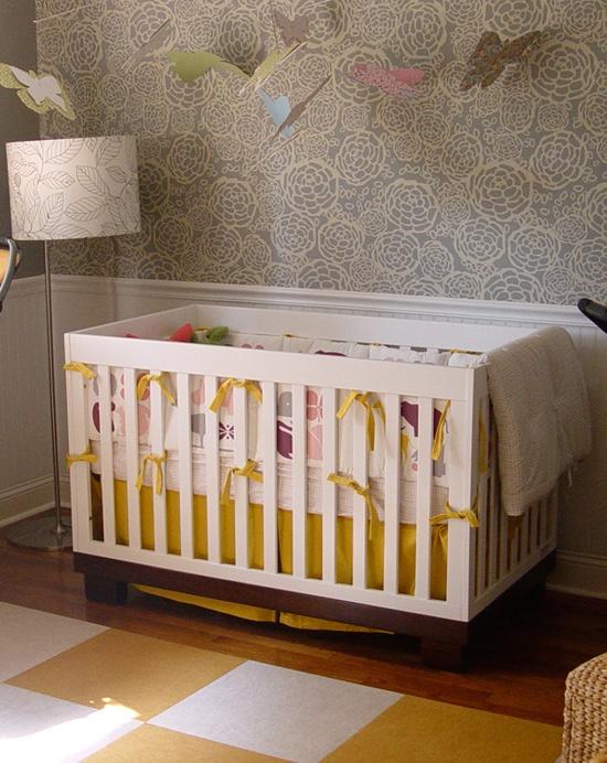 wallpaper love!:  Cots, Colors, Carpets Squares, Modern Nurseries, Cribs, Baby Rooms, Girls Nurseries, Kids Rooms, Baby Nurseries