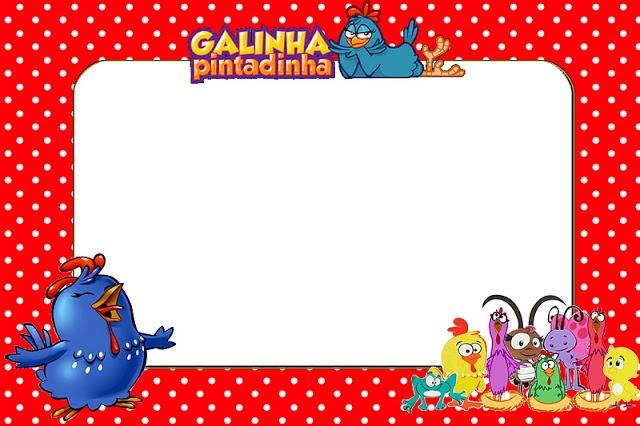 Kit Arte Vermelho Galinha Pintadinha - Fazendo a Minha Festa
