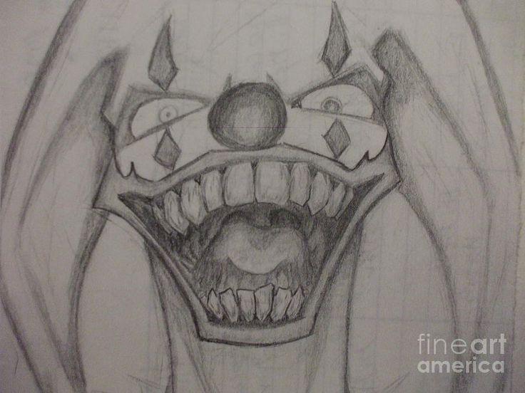 Clown Pics Crazy Evil Drawings Drawing Tattoo