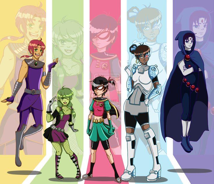 Titans Swap! by joyce-kaori.deviantart.com on @deviantART
