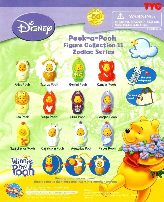 Winnie the Pooh Peek a Pooh Zodiac Collection