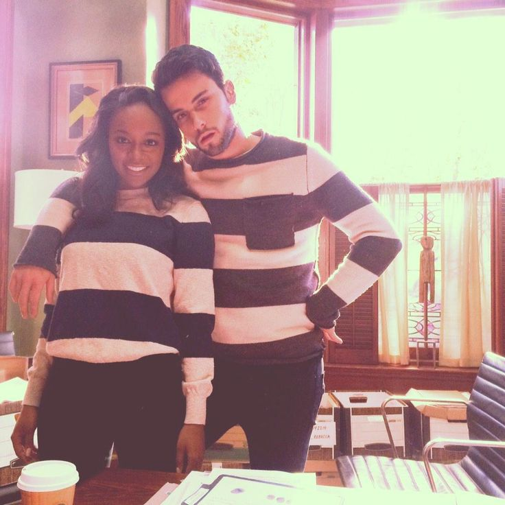 Aja Naomi King and Jack Falahee