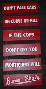 burma shave signs pictures