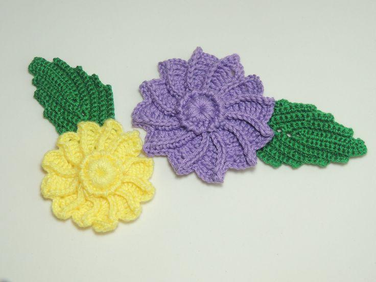 Flor em crochê - Flor de Crochê em Relevo - Parte 2/2