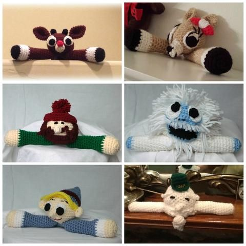 This pattern includes directions for 6 beloved characters of the Rudolph movie. Bumble, Clarice, Hermey, Rudolph, Sam and Yukon. http://www.maggiescrochet.com/products/rudolph-character-shelf-decoration-set-crochet-pattern-download