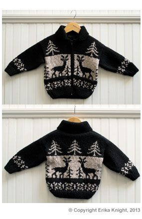 Erika Knight Reindeer Jacket | Deramores This would work with the wool I bought on sale the boxing day before last...but I'll have to scale the pattern up from a child's size.