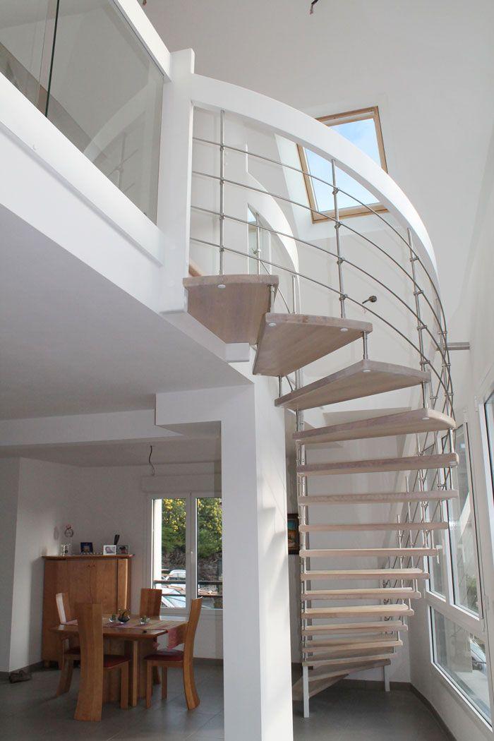 Escalier moderne le berder suspendu escalierspotier ma maison pinterest - Escalier loft lapeyre ...