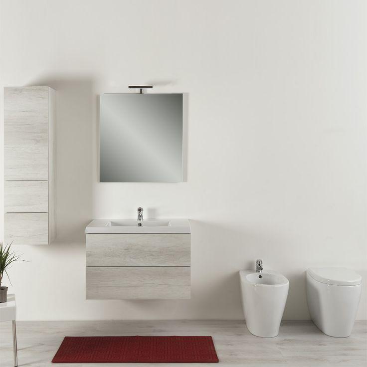 Composizione bagno completo 100 cm moderno Unika Bagni