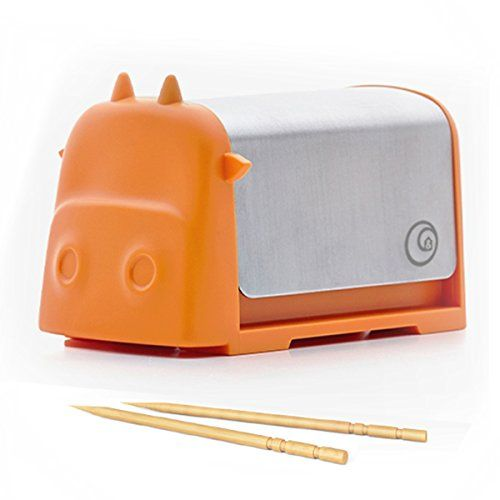 Darling Little Cattle Toothpick Dispenser Amazing Whimsical Design Looks Like Creative Colorful Cartoon Cow Press the Top and Toothpick Comes Out Back For Home Kitchen Office Restaurants -- You can find more details by visiting the image link.