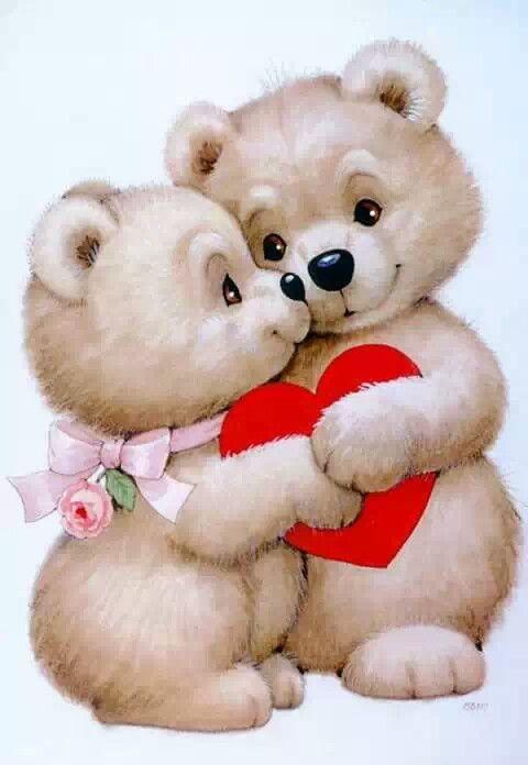 Дню, открытки я тебя люблю с медведями