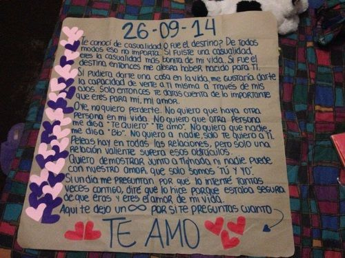 23 best regalos images on pinterest boyfriends letters - Que regalarle a tu novio en el primer mes ...