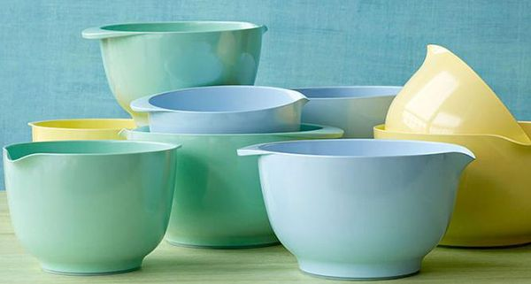 """The """"Margrethe bowl"""", designed by Jacob Jensen (while working for Acton Bjørn and Sigvard Bernadotte) for the firm ROSTI in 1950"""