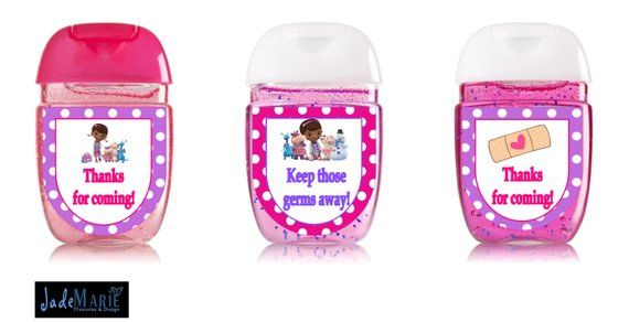 Doc Mcstuffins Inspired Hand Sanitizer Labels Custom Birthday