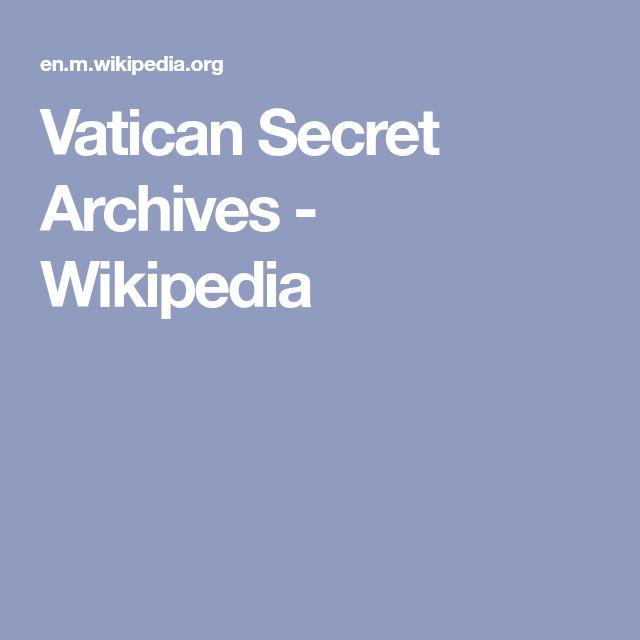 the vatican secret archives pdf