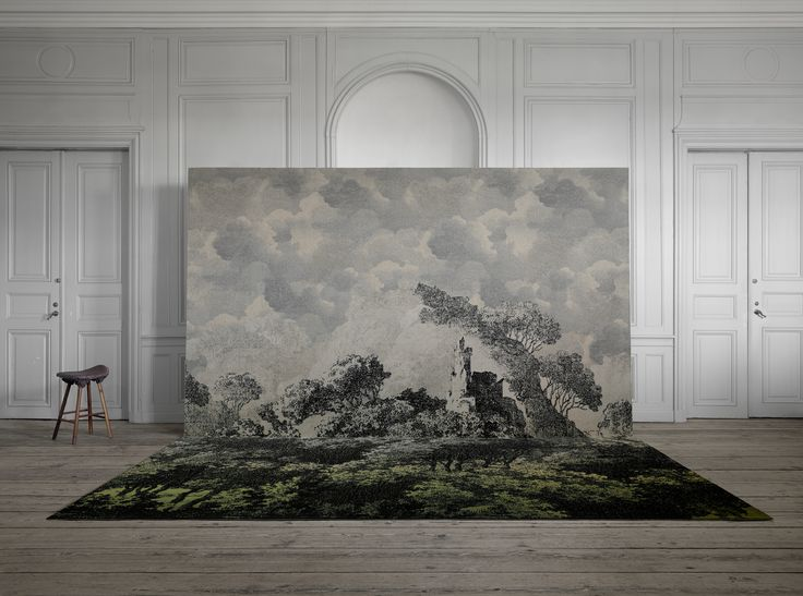 ATELIER by MONSIEUR CHRISTIAN LACROIX (Panorama + Nuages designs). The Gravure theme features fantasy engraving motifs inspired by monuments from Monsieur Christian Lacroix's home town, 1900 century fashion with birds and butterflies as well as mountain landscapes in Provence.