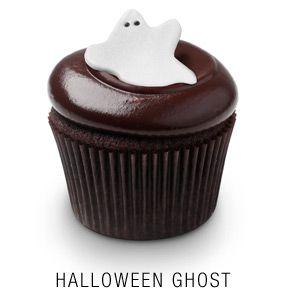 Georgetown Cupcake | DC Cupcakes | Menu | Chocolate squared cupcake with a fondant ghost