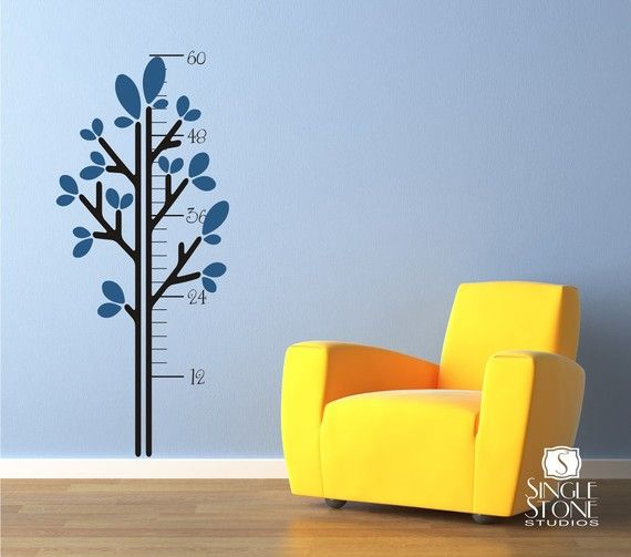 Growth Chart Wall Decals Leafy Tree - Vinyl Stickers Art Wall Decal sur Etsy, $68.78 CAD
