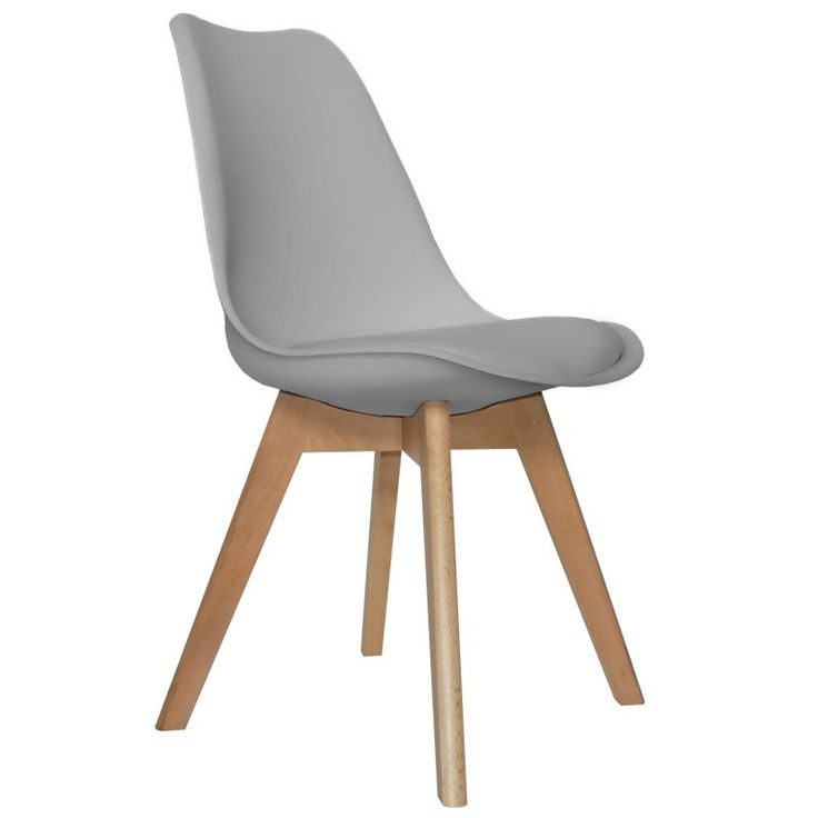 Silla new tower wood gris sillas para comedor for Sillas con reposabrazos baratas