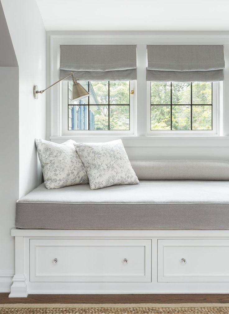 The Cutest Little Reading Nook With A Thick Cushion Drawers Beneath For Storage And Wall Sconc Window Seat Kitchen Bedroom Window Seat Window Seat Cushions