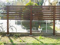 サーモウッドでお庭の目隠しフェンス お庭・デザイン・エクステリア グリーンケア