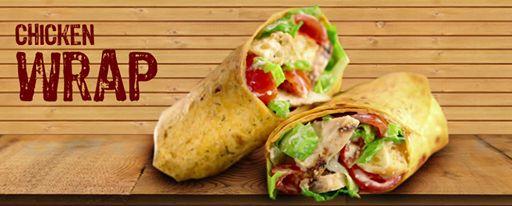 Chicken Wraps Crispy #chicken #cubes with #yummy sauce.