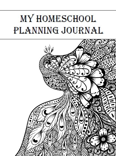 Homeschool Teacher Planning Journal $8.00 ~ 152-page digital  Adult Coloring Design