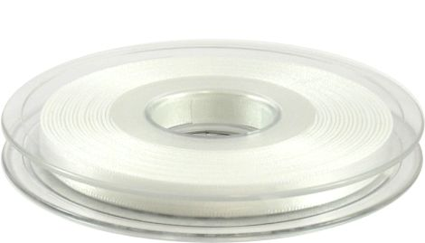 Pure white double faced satin ribbon - for weddings, flowers and christenings and crafts.