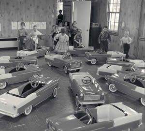 1955 Chevrolet pedal cars used in traffic Education
