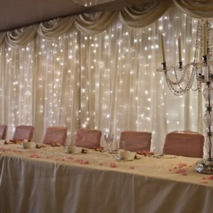 Wedding Head Table Decoration Ideas: Draping, Draping & More Draping