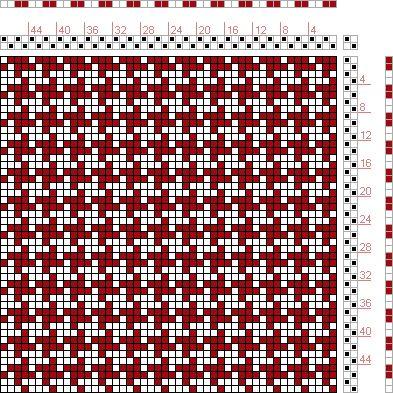 Hand Weaving Draft: Figure 99, A Manual of Weave Construction, Ivo Kastanek, 2S, 2T - Handweaving.net Hand Weaving and Draft Archive